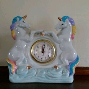 Other - Vintage - Never Used - Rare Double Unicorn Clock